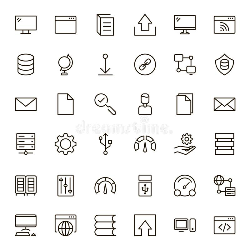Sistema de intercambio de datos del icono stock de ilustración