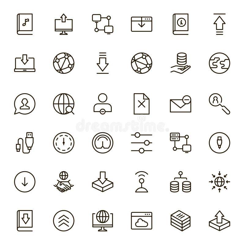 Sistema de intercambio de datos del icono libre illustration