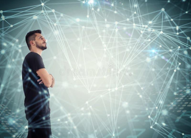 Sistema de interconexão da rede imagem de stock royalty free