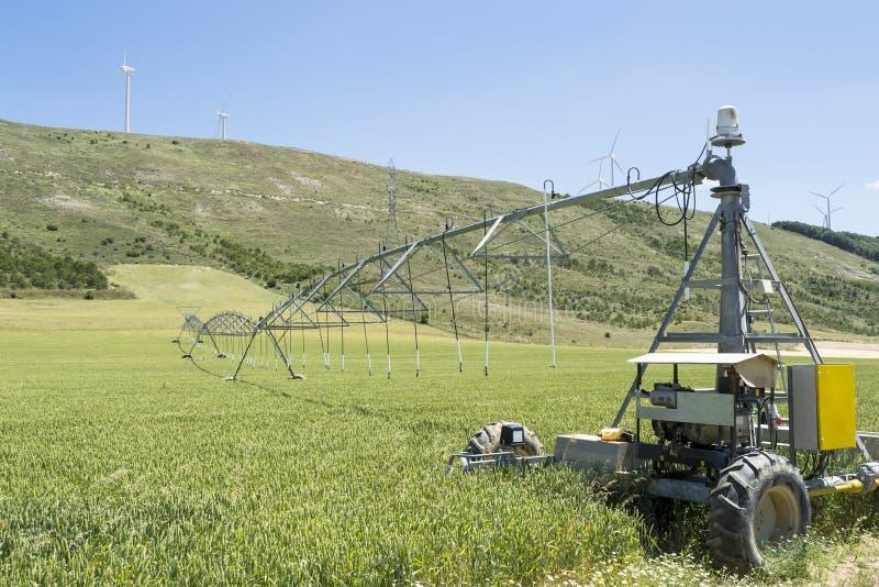 Sistema de irrigación foto de archivo