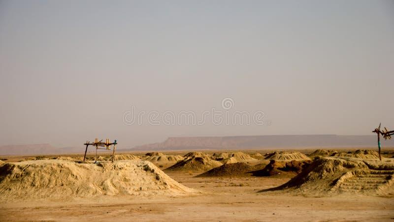 Sistema de irrigación en Sáhara fotos de archivo libres de regalías