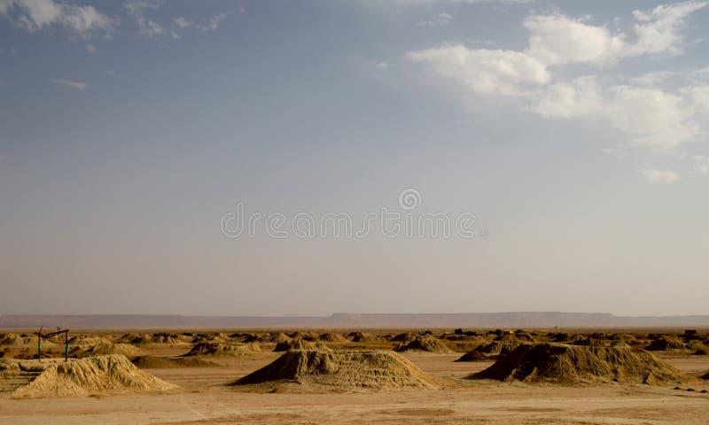 Sistema de irrigación en Sáhara foto de archivo