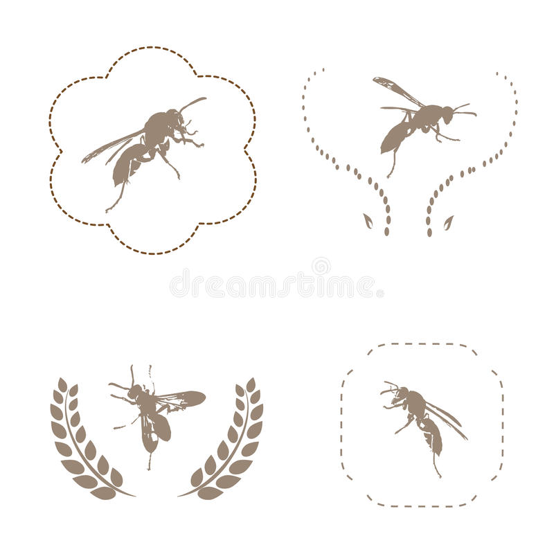 Sistema de la abeja Vector libre illustration