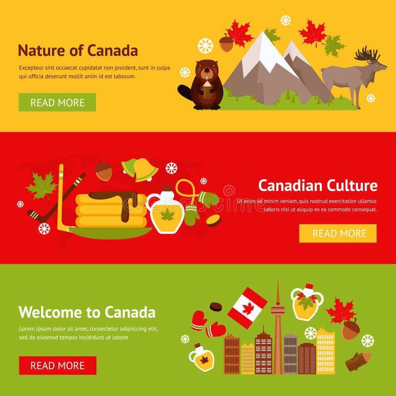 Sistema de la bandera de Canadá ilustración del vector
