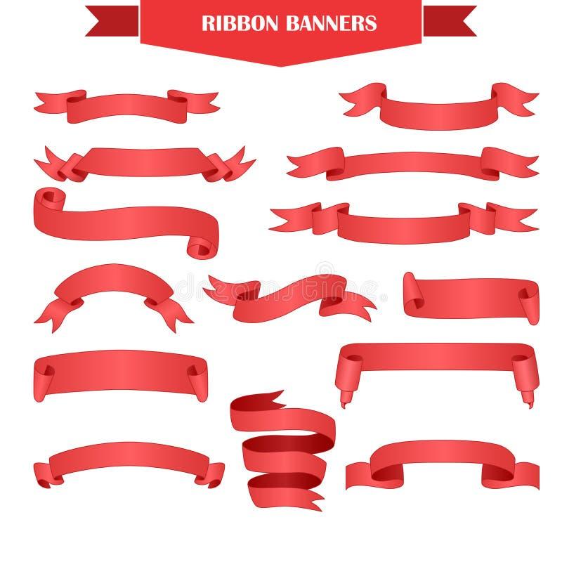 Sistema de la bandera de la cinta stock de ilustración