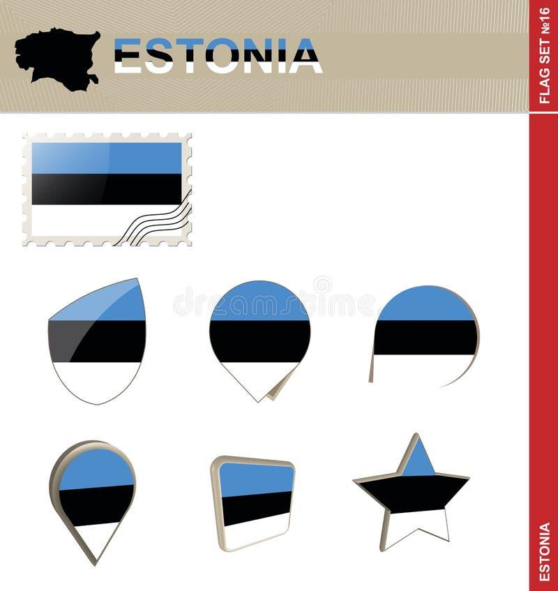 Sistema de la bandera de Estonia, sistema #16 de la bandera libre illustration