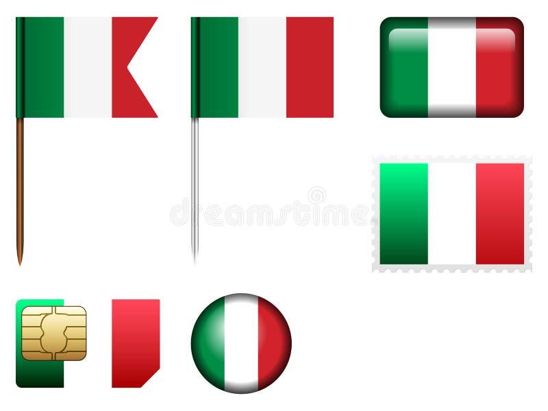 Sistema de la bandera de Italia libre illustration