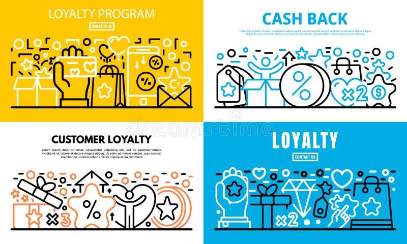 Sistema de la bandera de la recompensa del programa de la lealtad, estilo del esquema stock de ilustración