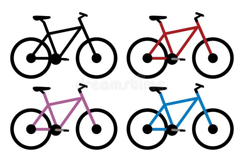 Sistema de la bici de montaña libre illustration