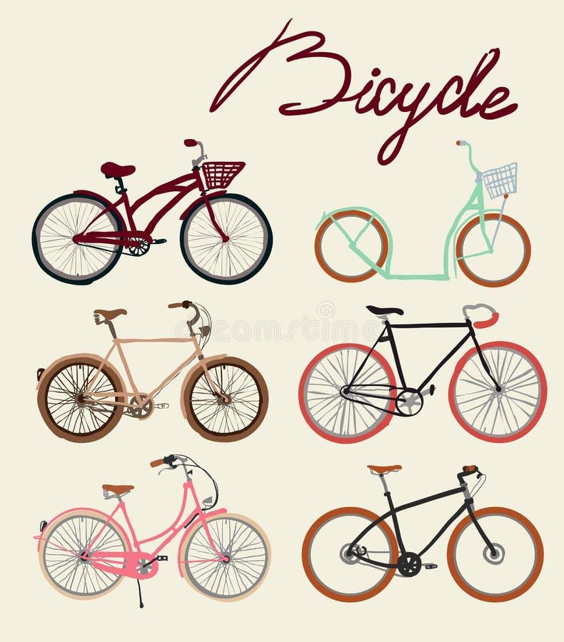 Sistema de la bicicleta del vintage Ilustración del vector ilustración del vector