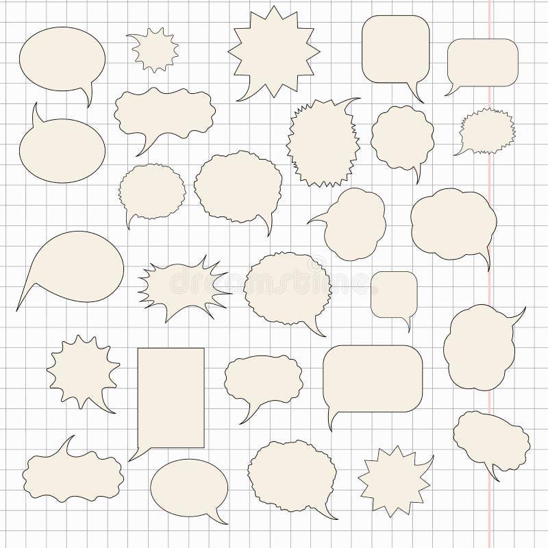 Sistema de la burbuja del discurso ilustración del vector