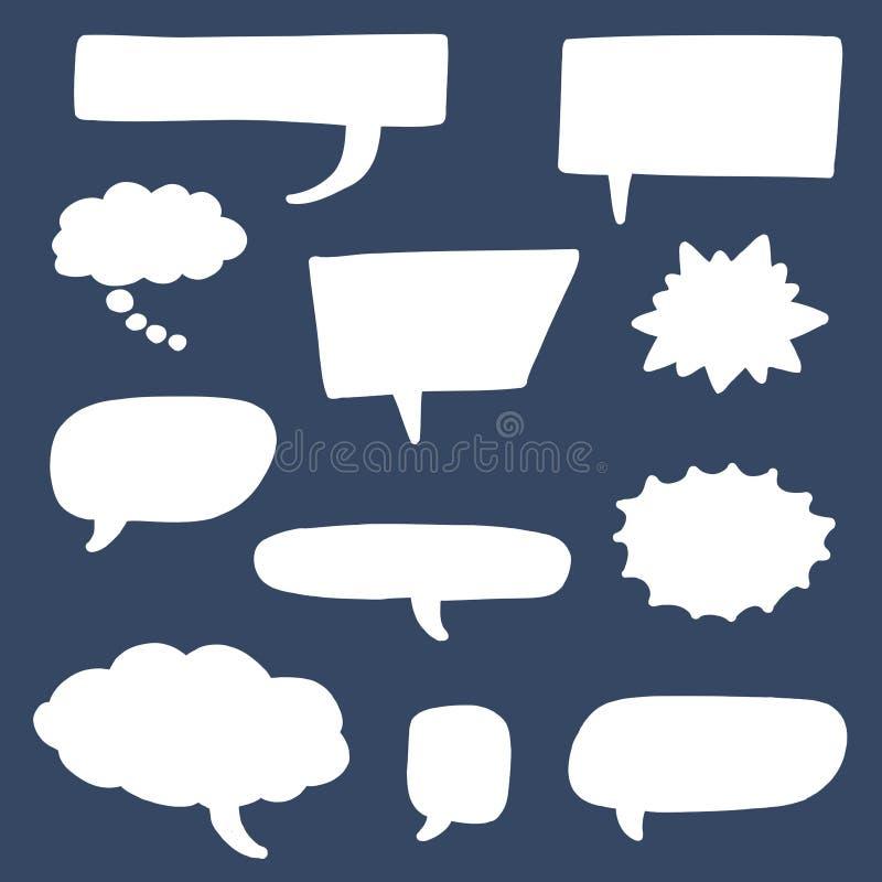 Sistema de la burbuja del discurso stock de ilustración