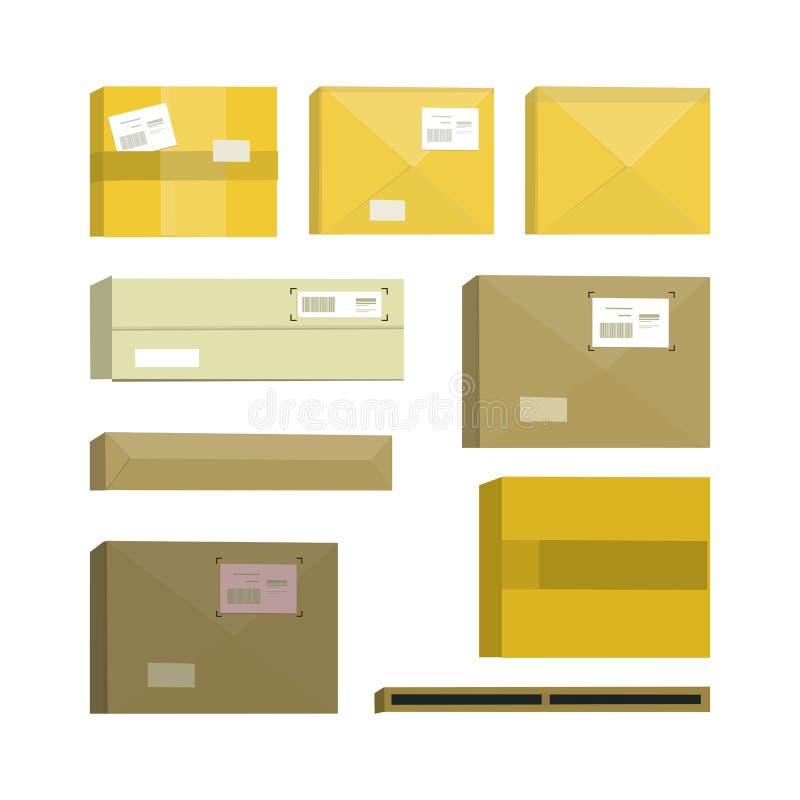 Sistema de la caja de la historieta libre illustration