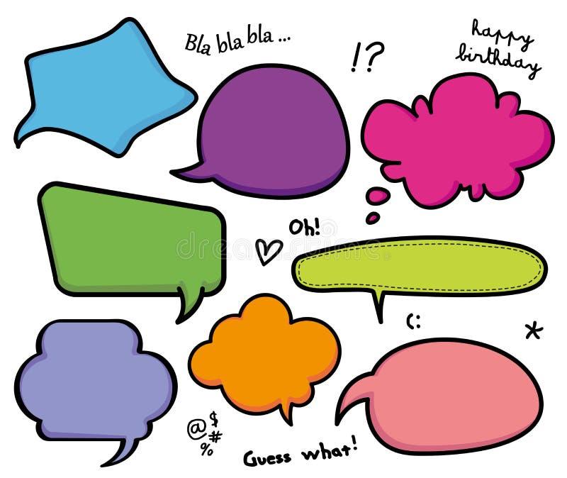 Sistema de la charla de las burbujas del discurso libre illustration