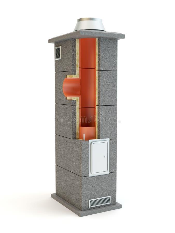 Sistema de la chimenea - ejemplo 3D libre illustration