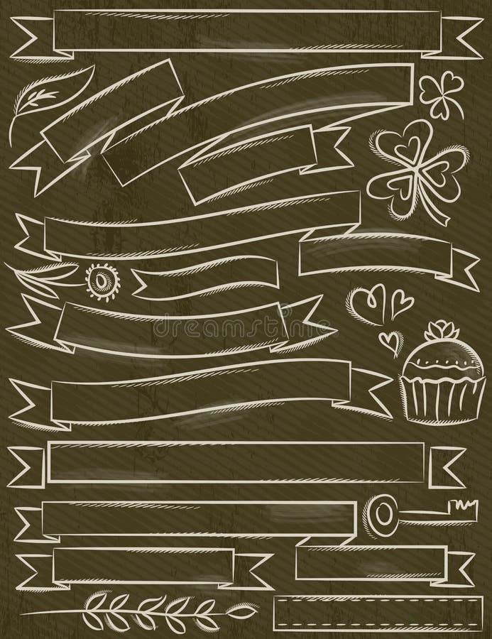 Sistema de la cinta sobre el fondo marrón, vector stock de ilustración