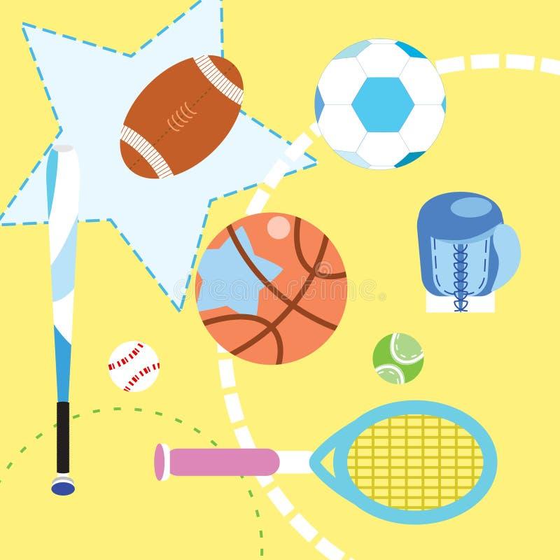Sistema de la colección del deporte stock de ilustración