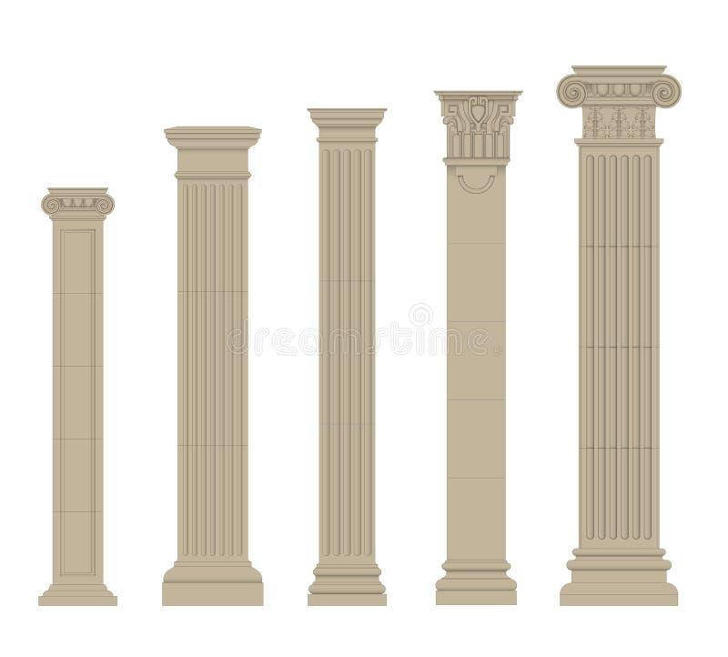 Sistema de la columna 2 stock de ilustración