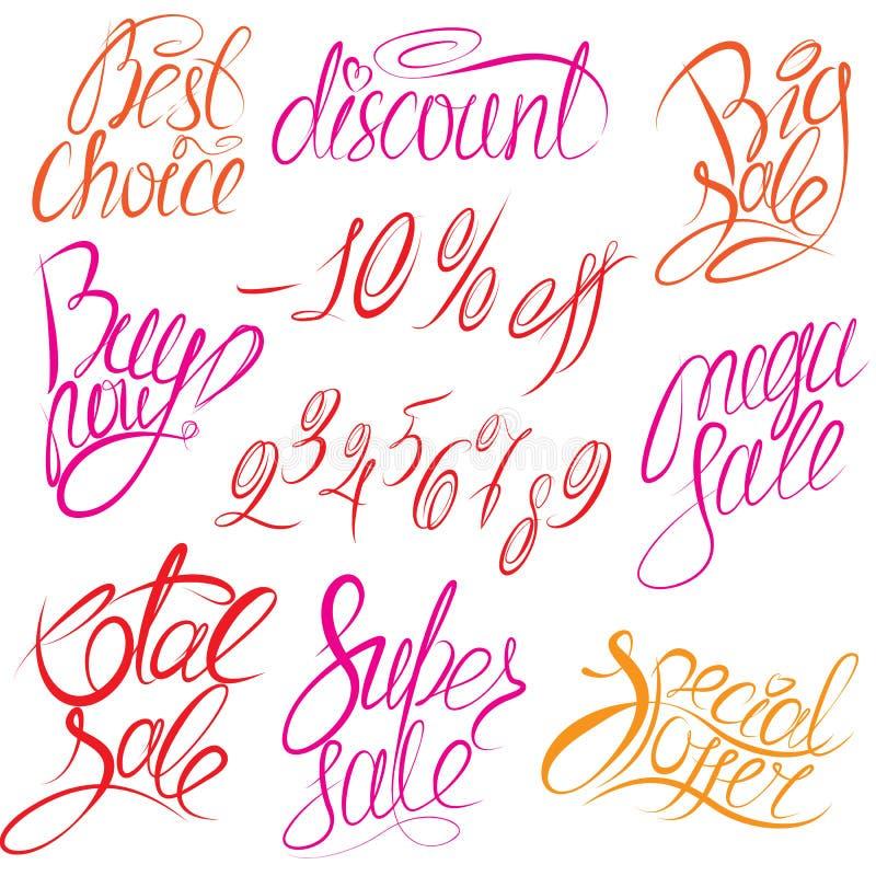 ¡Sistema de la compra de las palabras escritas de la mano ahora! , La mejor opción, d stock de ilustración