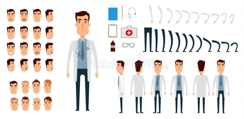 Sistema de la creación del carácter del doctor libre illustration