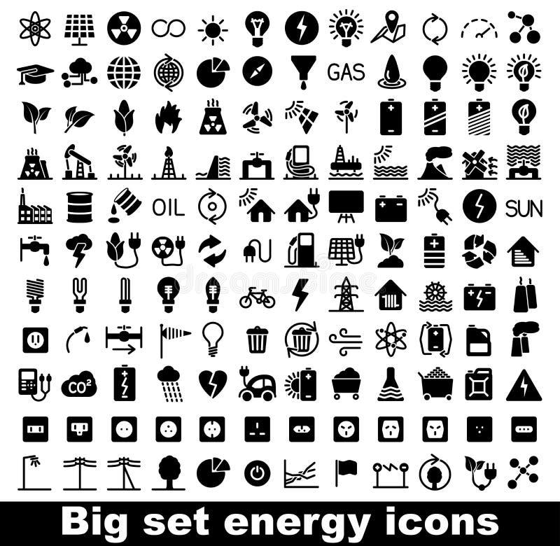 Sistema de la energía y del icono del recurso libre illustration