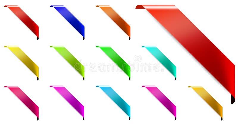 Sistema de la esquina de la cinta ilustración del vector