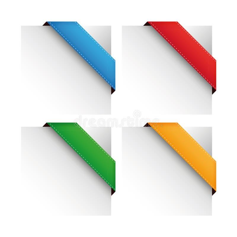 Sistema de la esquina de la cinta del vector stock de ilustración