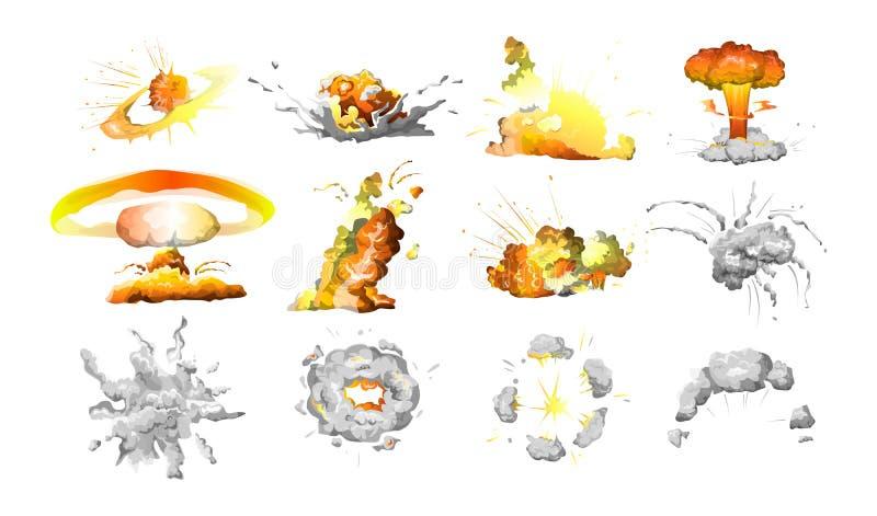 Sistema de la explosión de la bomba libre illustration
