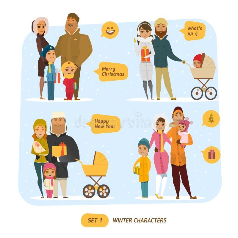 Sistema de la familia stock de ilustración