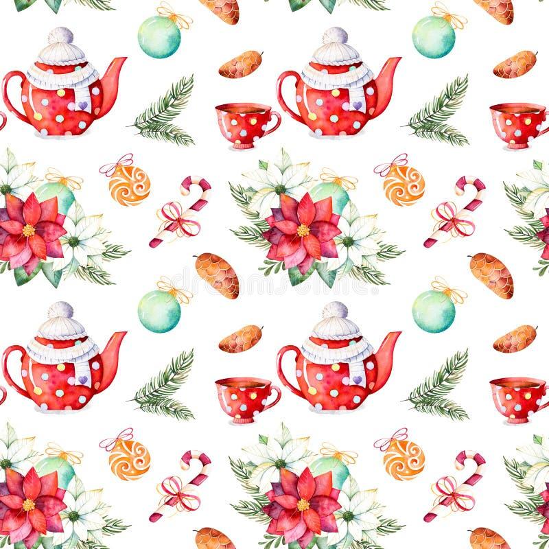 Sistema de la Feliz Navidad y de la Feliz Año Nuevo libre illustration