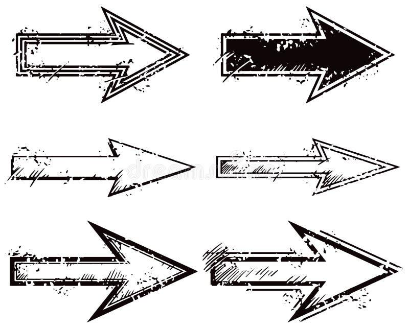Sistema de la flecha stock de ilustración