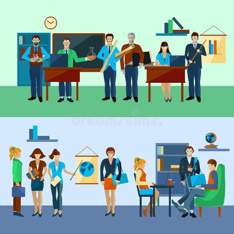 Sistema de la gente de la universidad libre illustration
