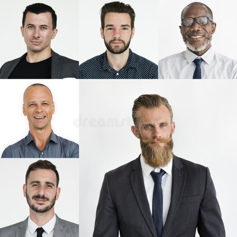 Sistema de la gente del retrato del estudio de los hombres de negocios de la diversidad foto de archivo
