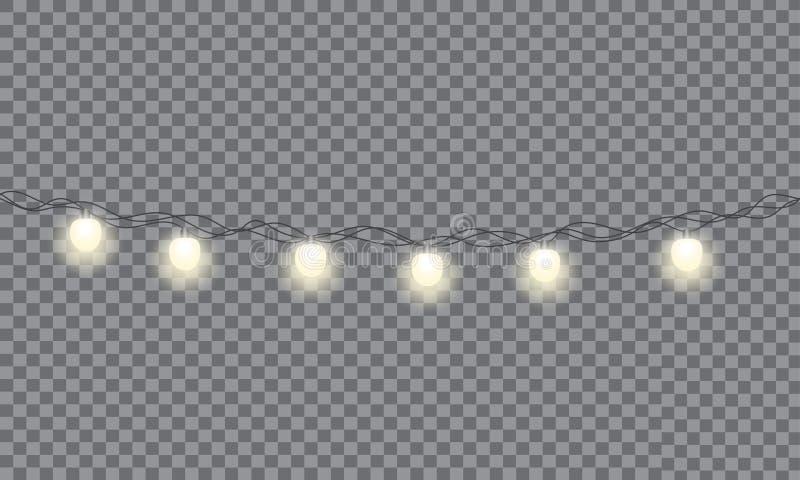 Sistema de la guirnalda que brilla intensamente de Navidad libre illustration