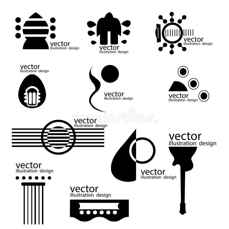 sistema de la guitarra de los logotipos libre illustration