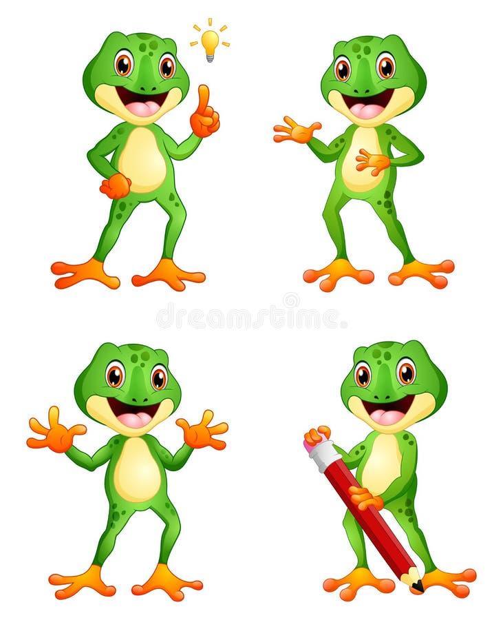 Sistema de la historieta de la rana libre illustration