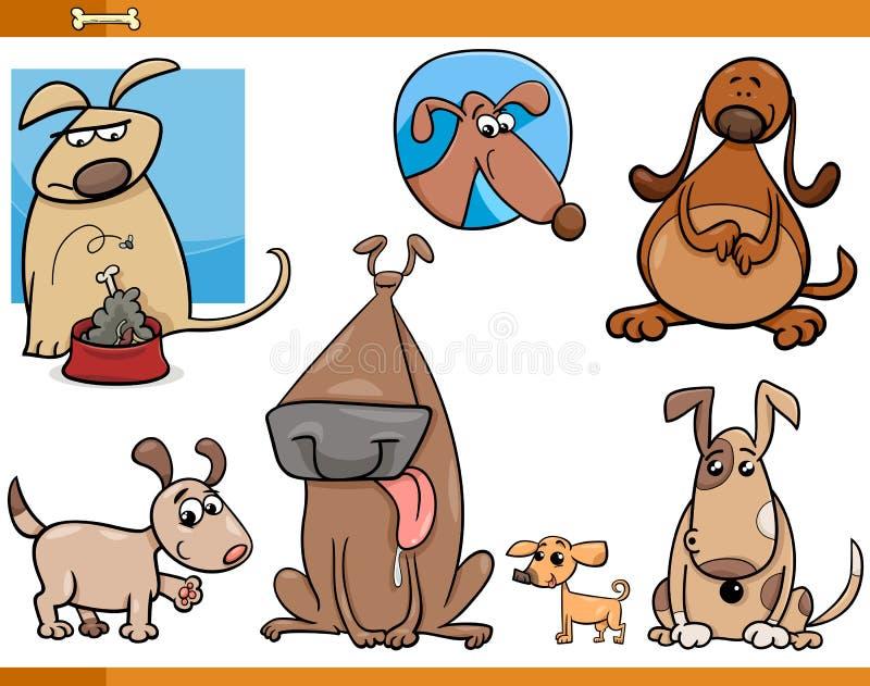 sistema de la historieta de los caracteres de los perros libre illustration