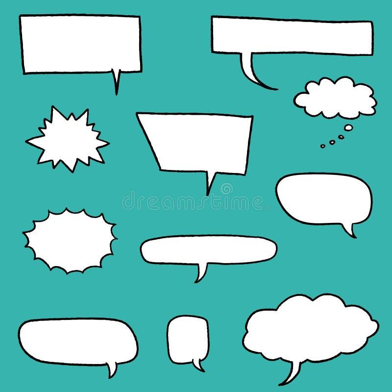 Sistema de la historieta del discurso libre illustration