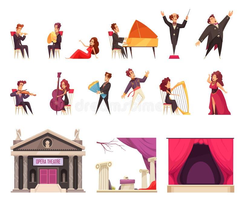 Sistema de la historieta del teatro de la ópera libre illustration