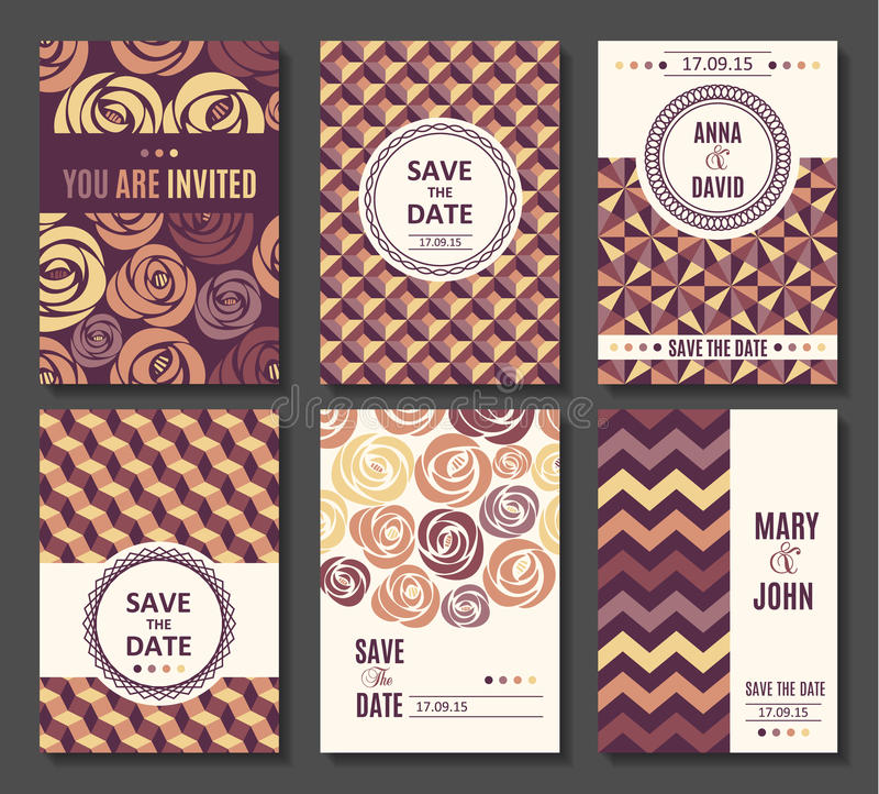 Sistema de la invitación de las plantillas de la tarjeta del vector libre illustration