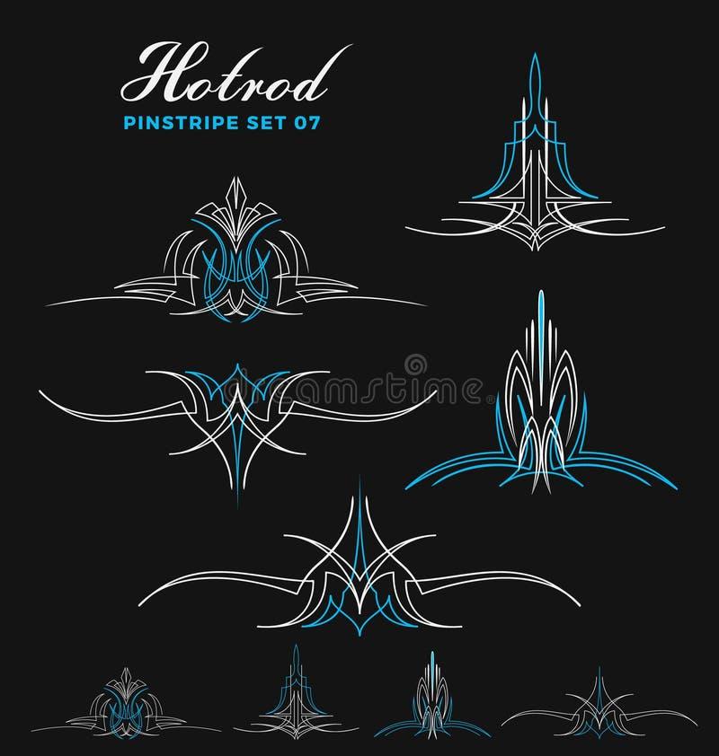 Sistema de la línea arte de la tela a rayas del vintage libre illustration