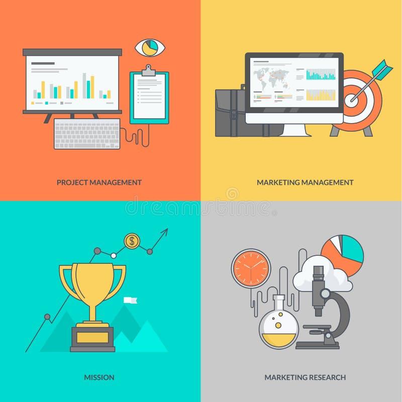 Sistema de la línea de color iconos en el tema del negocio libre illustration