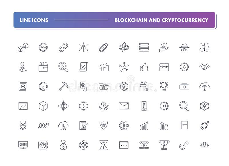 Sistema 60 de la línea iconos r libre illustration