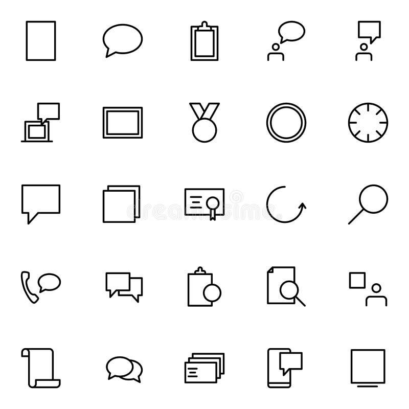 Sistema de la línea de negocio iconos stock de ilustración