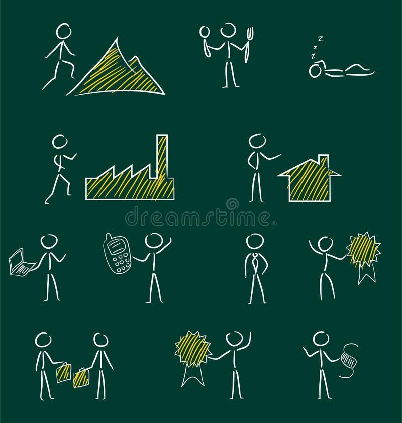 Download Sistema De La Mano Dibujado Ilustración del Vector - Ilustración de grunge, aislado: 41915198