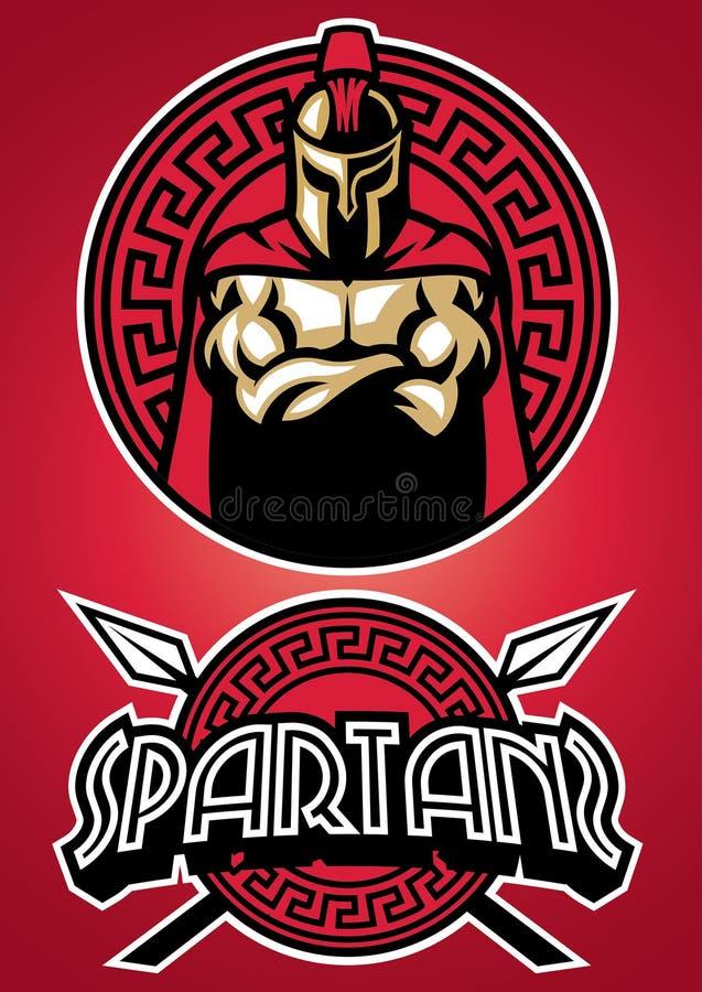 Sistema de la mascota de Spartan Warrior stock de ilustración