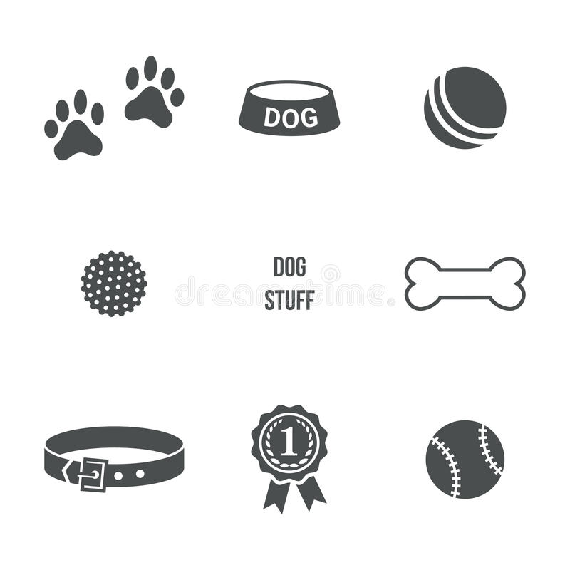 Sistema de la materia del perro libre illustration