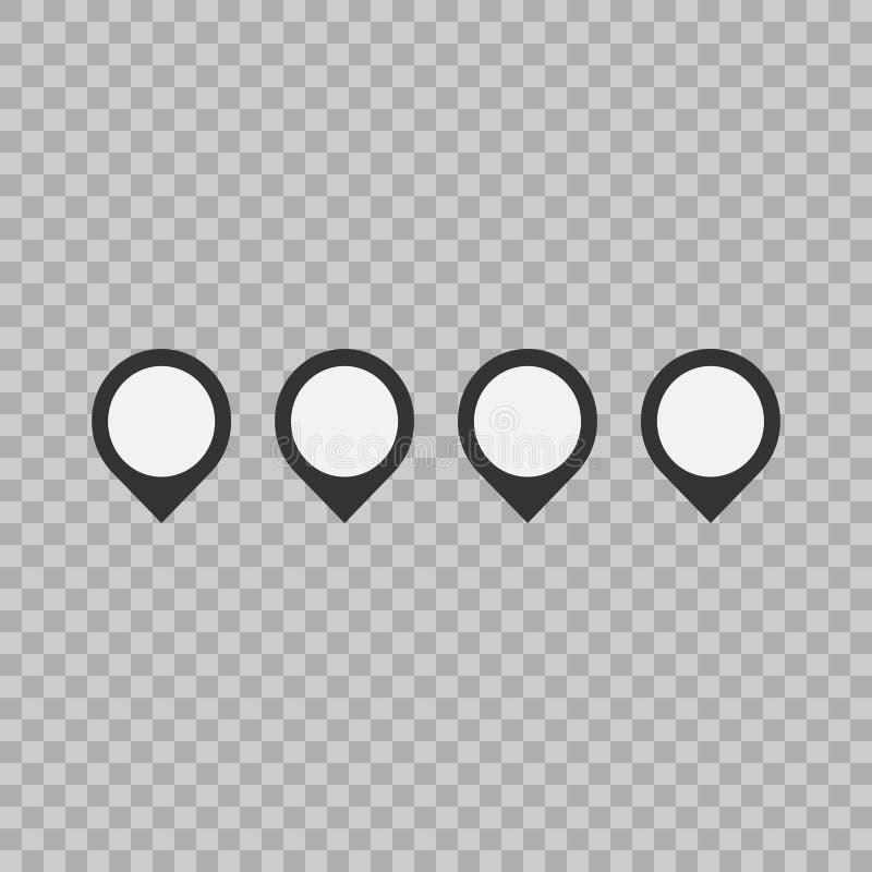 Sistema de la muestra del indicador de la marca Iconos planos del estilo en fondo transparente Estilo plano de moda para el diseñ stock de ilustración