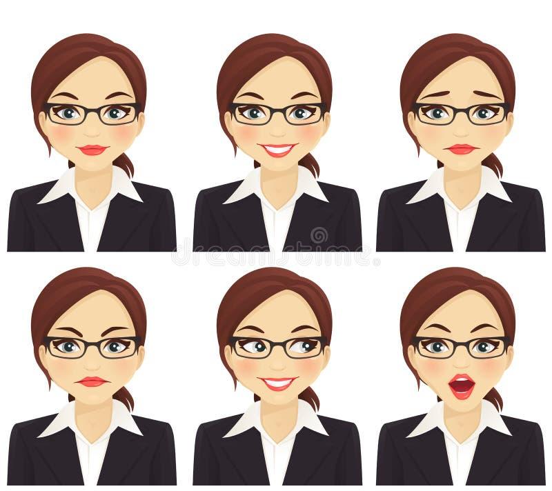 Sistema de la mujer de negocios ilustración del vector