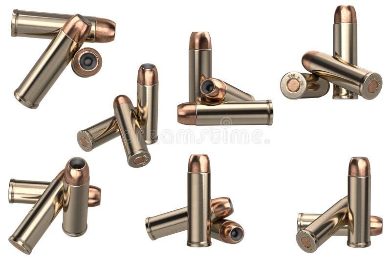 Sistema de la munición del arma de la bala ilustración del vector